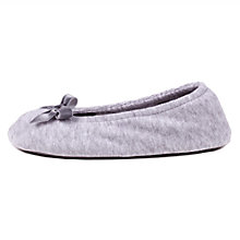 Buy Totes Terry Ballet Slippers, Grey Online at johnlewis.com
