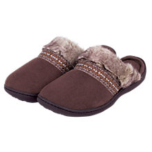 Buy Totes Woodland Mule Slippers, Brown Online at johnlewis.com