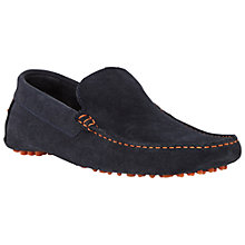 Buy Dune Bermuda Suede Slip-On Loafers, Navy Online at johnlewis.com