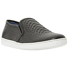Buy Dune Tomkins Snake Print Leather Trainers Online at johnlewis.com