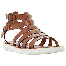 Buy Dune Flameboy Flex Sole Leather Gladiator Sandals Online at johnlewis.com