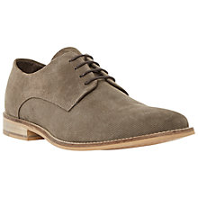 Buy Dune Bambino Perforated Suede Derby Shoes, Grey Online at johnlewis.com