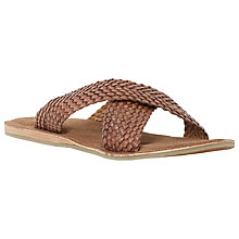 Buy Dune Interlace Leather Sandals, Tan Online at johnlewis.com