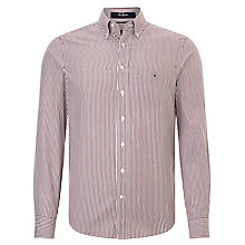 Buy Gant Striped Banker Shirt, Burgundy Online at johnlewis.com