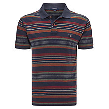 Buy Gant Multi Striped Polo Shirt, Classic Blue/Multi Online at johnlewis.com