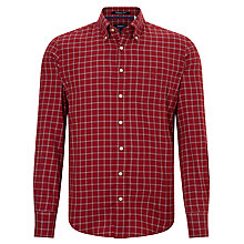 Buy Gant Rockway Twill Shirt, Dark Red Online at johnlewis.com