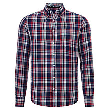 Buy Gant Bleeker Oxford Shirt, Navy Blue Online at johnlewis.com