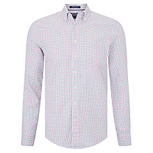 Buy Gant Manhattan Twill Long Sleeve Shirt, White Multi Online at johnlewis.com