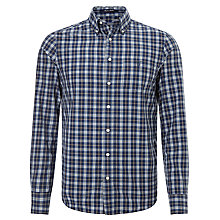 Buy Gant Hudson Poplin Check Shirt, Dragon Blue Online at johnlewis.com