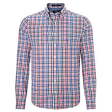 Buy Gant Gingham Twill Long Sleeve Shirt Online at johnlewis.com
