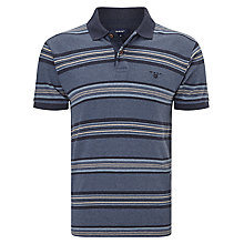 Buy Gant Multi Striped Polo Shirt, Blue Heather/Multi Online at johnlewis.com