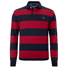Buy Gant Solid Stripy Long Sleeved Rugby Shirt Online at johnlewis.com