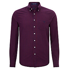 Buy Gant Greenwich Mini Check Poplin Shirt Online at johnlewis.com