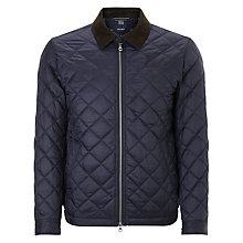 Buy Gant Quilted Windcheater Jacket, Blue Online at johnlewis.com