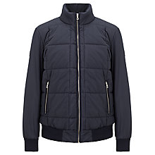Buy Gant The Duvet Puffer Jacket, Navy Online at johnlewis.com