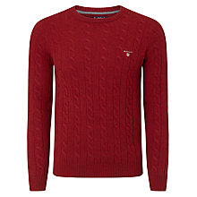 Buy Gant Cable Knit Crew Neck Jumper Online at johnlewis.com