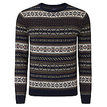 Buy Gant Jacquard Crew Neck Jumper, Multi Online at johnlewis.com