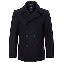 Buy Gant Wool Pea Coat, Thunder Blue Online at johnlewis.com