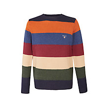 Buy Gant Stripe Lambswool Jumper, Multi Online at johnlewis.com