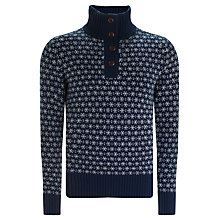 Buy Gant Snowflake Lambswool Jumper, Navy Online at johnlewis.com