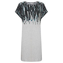 Buy Kin by John Lewis Ink Print Cotton Dress, Grey Online at johnlewis.com
