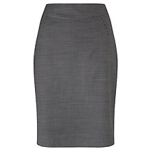 Buy John Lewis Birdseye Pencil Skirt, Black Online at johnlewis.com