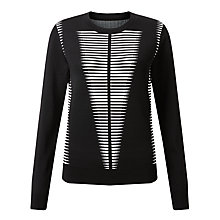 Buy Somerset by Alice Temperley Long Sleeve Monochrome Jumper, Black / White Online at johnlewis.com