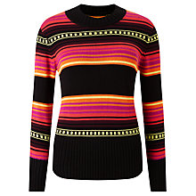Buy Somerset by Alice Temperley Mexican Jumper, Red / Black Online at johnlewis.com