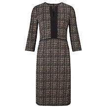 Buy John Lewis Jacquard Dress, Black/Camel Online at johnlewis.com