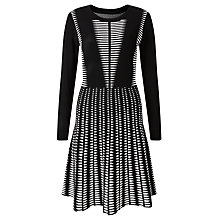 Buy Somerset by Alice Temperley Long Sleeve Monochrome Dress, Black / White Online at johnlewis.com