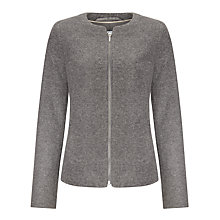 Buy John Lewis Capsule Collection Boiled Wool Zip Up Jacket, Grey Online at johnlewis.com