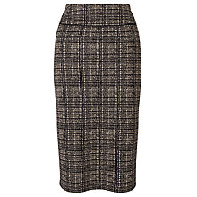Buy John Lewis Jersey Jacquard Skirt, Black/Camel Online at johnlewis.com