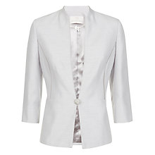 Buy Jacques Vert Piped 1 Button Jacket, Light Grey Online at johnlewis.com