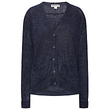 Buy Whistles Popper Front Boxy Cardigan, Navy Online at johnlewis.com