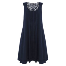 Buy Mint Velvet Iris Smock Dress, Blue Online at johnlewis.com