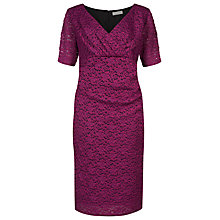 Buy Windsmoor Lace Dress, Magenta Online at johnlewis.com