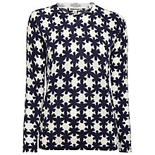 Buy Whistles Sekka Floral Jumper, Blue/White Online at johnlewis.com