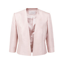 Buy Jacques Vert Petite Edge to Edge Jacket, Light Pink Online at johnlewis.com