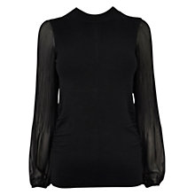 Buy Coast Lillah Knit Top, Black Online at johnlewis.com