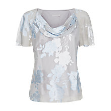 Buy Jacques Vert Floral Devore Top, Shadow Online at johnlewis.com