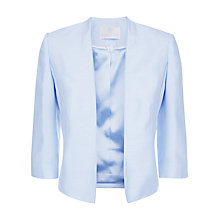 Buy Jacques Vert Edge to Edge Jacket, Light Blue Online at johnlewis.com