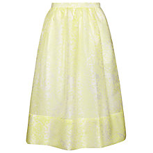 Buy Whistles Lorna Stripe Jacquard Skirt, Yellow Online at johnlewis.com