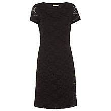 Buy Precis Petite Lace Dress, Black Online at johnlewis.com