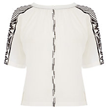 Buy Karen Millen Tribal Embroidered Top, Ivory Online at johnlewis.com