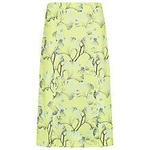 Buy Whistles Palm Print Split Skirt, Lime Online at johnlewis.com