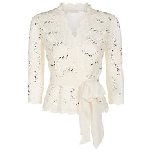 Buy Jacques Vert Petite Lace Cross Front Top Online at johnlewis.com