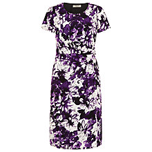 Buy Precis Petite Painted Floral Print Dress, Multi Purple Online at johnlewis.com