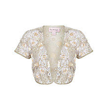 Buy Miss Selfridge Premium Collection Antonia Bolero, Cream Online at johnlewis.com