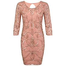 Buy Miss Selfridge Premium Collection Lizzie Bodycon Dress, Coral Online at johnlewis.com