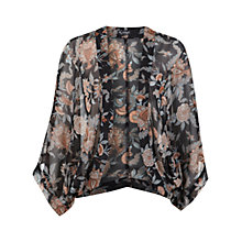 Buy Miss Selfridge Dark Floral Kimono, Multi Online at johnlewis.com